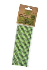 Esschert Design Papieren rietjes - Bamboeprint set/24