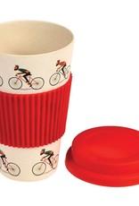 Dotcomgiftshop Eco Coffee beker - Bicycle