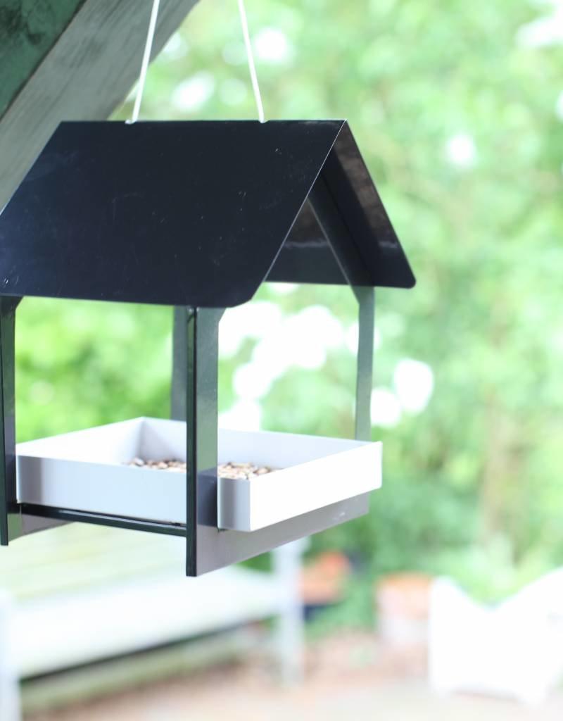 Esschert Design Voedertafel hangend - antraciet/wit