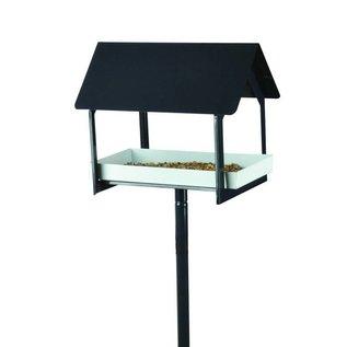 Esschert Design Voedertafel op pin - antraciet/wit