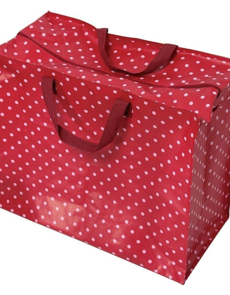 Rex London Big shopper - Rood met witte stippen