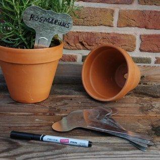 Esschert Design 6 plantenstekers met watervaste stift