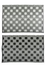 Esschert Design Tuintapijt - Cirkel - zwart/wit