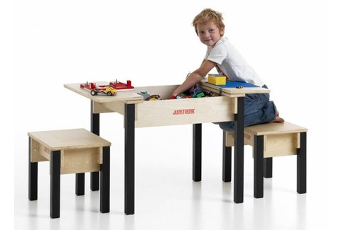 kindertisch set aus holz kindersitzecke aus holz mit. Black Bedroom Furniture Sets. Home Design Ideas