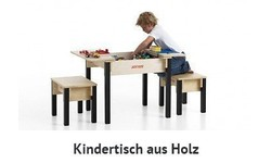 kindertisch aus holz kaufen kindertische aus birke natur. Black Bedroom Furniture Sets. Home Design Ideas