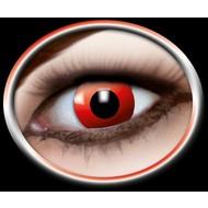 Halloweenaccessoires: Set kleurlenzen Rood