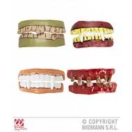 Halloweenaccessoires horror tanden in 4 soorten