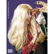 Halloweenaccessoires pruik heks Morgana blond