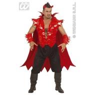 Halloweenkleding duivel fiberoptisch