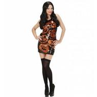Halloweenkostuum paillettenjurk pompoen