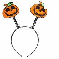 Halloweenaccessoires spiegelend hoorntje pompoen