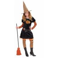 Halloweenkleding heks pompoen