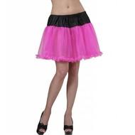 Halloweenaccessoires petticoat zwart met roze tule