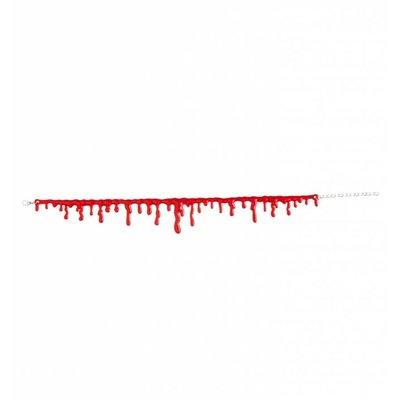 Halloweenaccessoires ketting bloeddruppels