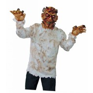 Halloweenkleding: Man met scheermesje in het hoofd