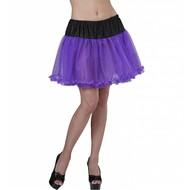 Halloweenaccessoires petticoat zwart/paars