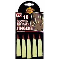 Halloweenaccessoires heksenvinger lichtgevend in het donker