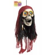 Halloweenaccessoires: Piratenschedel met verlichte ogen