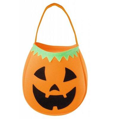 Halloweenaccessoires handtasje pompoen