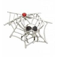 Halloweenaccessoires broche spinneweb met spinnen