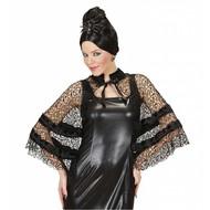 Halloweenkleding cape zwarte weduwe