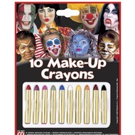 Halloweenaccessoires 10 make-up stiften