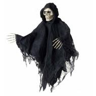 Horroraccessoires: Hangdeco Schedel met gewaad en handen 80 cm