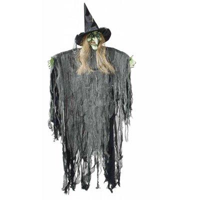 Hangdecoratie levensgrote heks voor Halloween