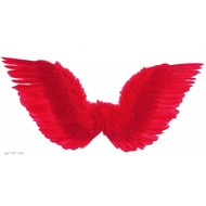 Halloweenaccessoires gevederde vleugels rood 86x31