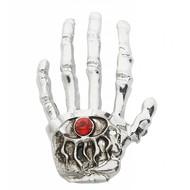 Halloweenartikel broche skelethand