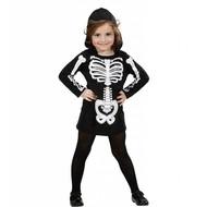Halloweenkleding skelet meisje