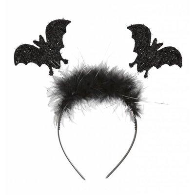 Halloweenaccessoires hoofdband vleermuizen