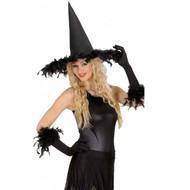Halloweenaccessoires heksenhoed met veren