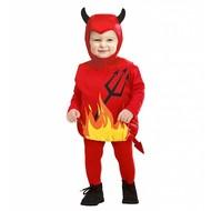 Halloweenkleding opgevulde duivel kind