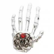 Halloweenartikel ring skelethand