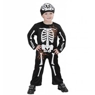 Halloweenkleding klein skelet
