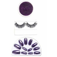 Halloweenaccessoires make-up set paars