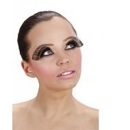Halloweenaccessoires oogwimperszwart extra lang