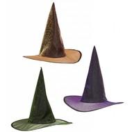 Halloweenaccessoires heksenhoed spinneweb