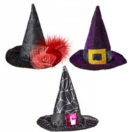Halloweenaccessoires mini heksenhoed