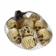 Halloweenaccessoires set van 9 schedels in een zak