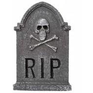 Horroraccessoires: Grafsteen RIP doodskop 57 cm