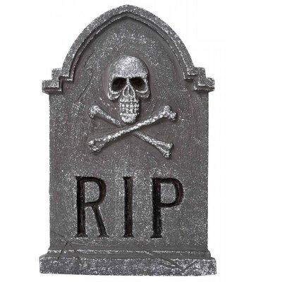 Grafsteen RIP met doodskop voor Halloween