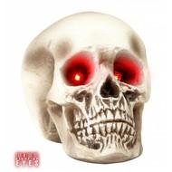 Halloweenaccessoires schedel met lichtgevende ogen 22cm