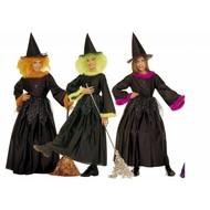 Halloweenkleding heks met veren