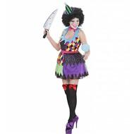 Halloweenkleding kwaadaardige clown dame