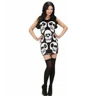 Halloweenkleding paillettenjurk schedels