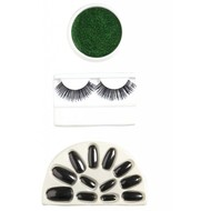 Halloweenaccessoires make-up set groen