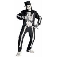 Halloweenkleding chic skelet