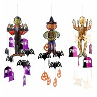 Halloweenaccessoires halloween hanger met decoraties